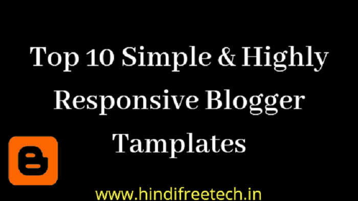 top 10 blogger template